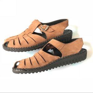 Josef Seibel Air Massage Leather Fisherman Sandals